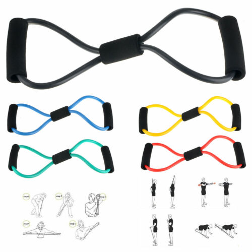 Fitness Equipment Elastic Resistance Bands Tube Workout Exercise Band For Yoga