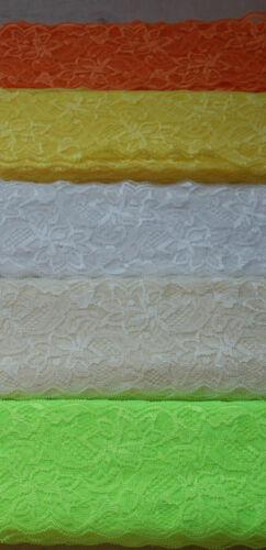 90-400cm Spitzenband Spitze Spitzenborte 8cm elastisch 20farben Spitze Polyester