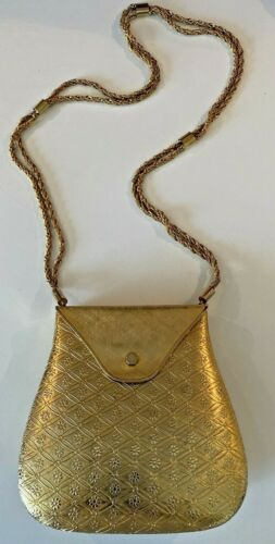 "Vintage ""Rosenfeld "" Hard Shell Gilded Gold Colore"