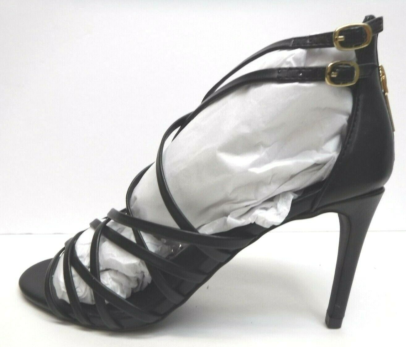 Steve Madden Size 8 Black Strappy Sandals Heels New Womens Shoes