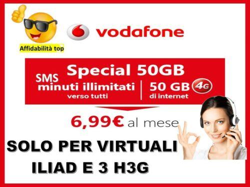 PASSA A VODAFONE  SPECIAL  50GB MINUTI SMS ILLIMITATI X TUTTI GLI OPERATORI.