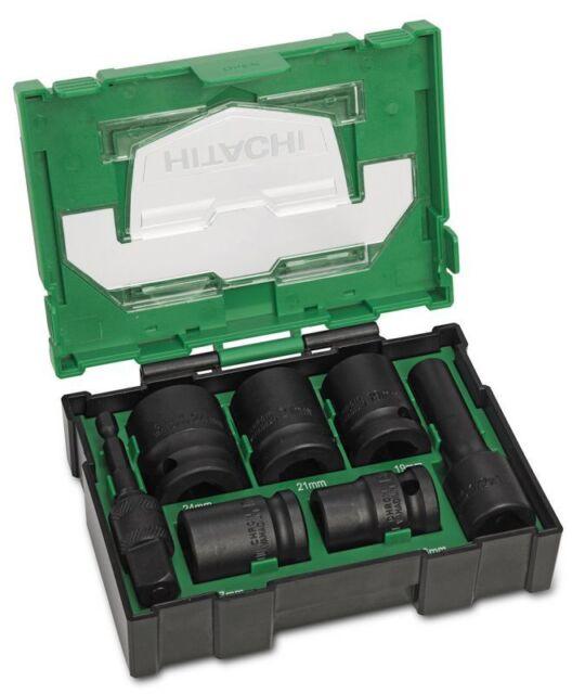 "HITACHI 7Pc. 1/2"" Impact Socket Bit-Box 2 40030025"