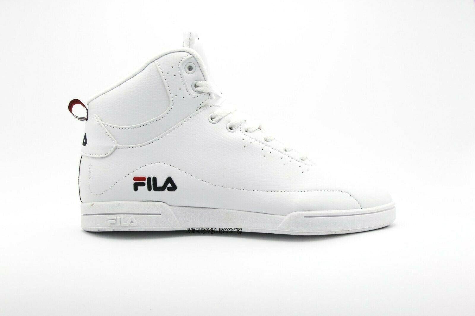 Hombre Fila Clásico Wisterio Medio Alto Top blancoo Cordones Zapatillas