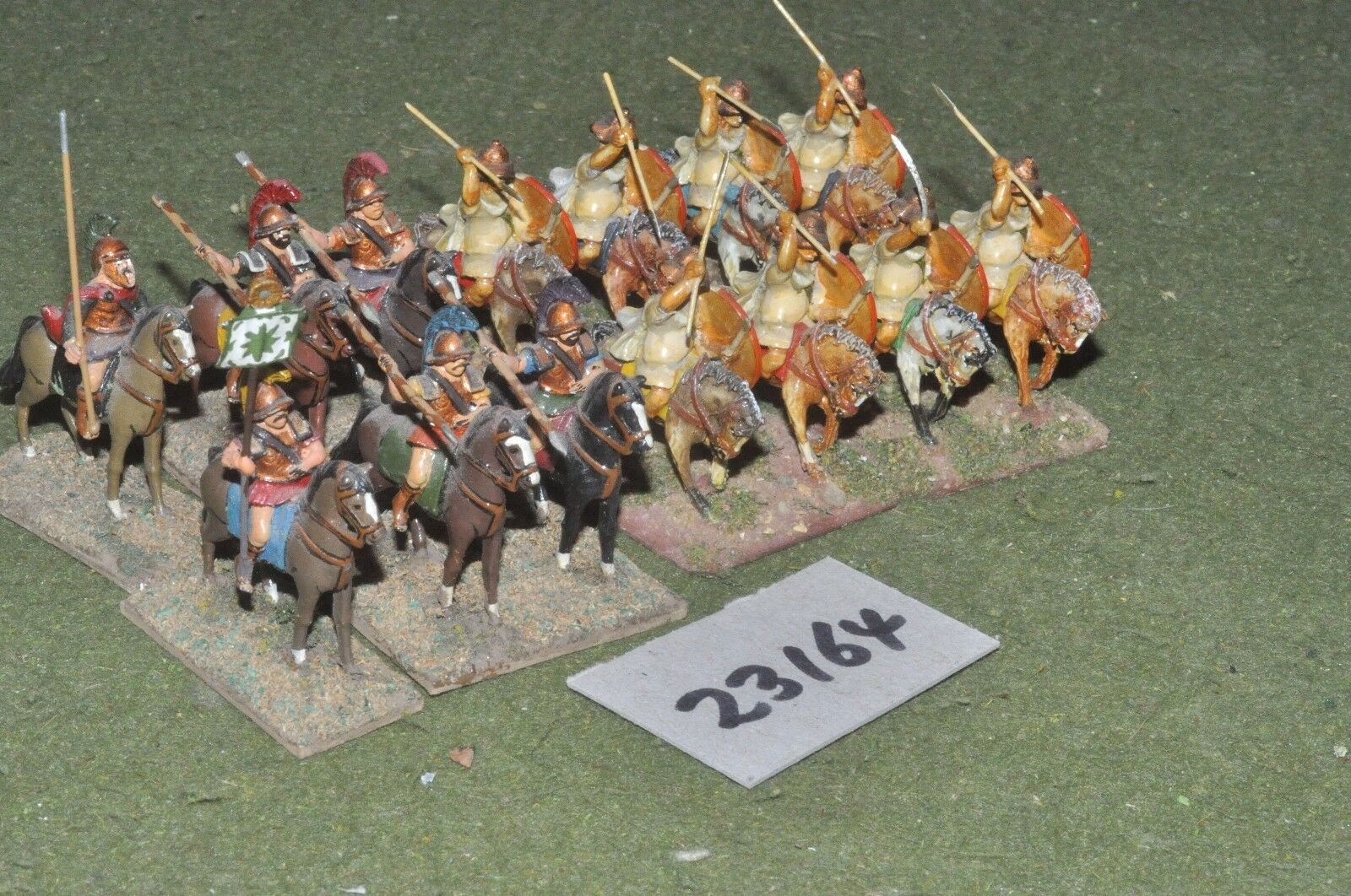 25mm classical   greek - heavy 14 figures - cav (23164)