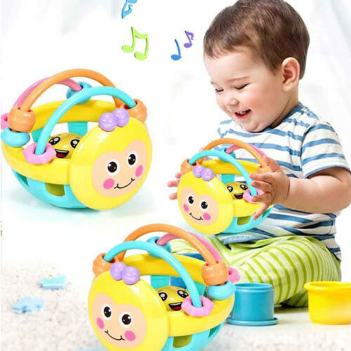 Cartoon Bee Baby Rattle Activity Ball Development Toddler Grasping Toys N7