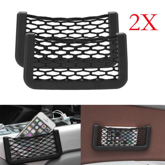 Car Tool Seat Side Back Storage Net Bag Phone Holder Pocket Organizer