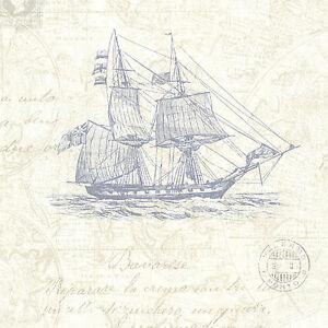 Rasch-Tapis-Match-Race-021242-Textil-vieux-Carte-de-mer-Avion-Yacht-A-Voiles