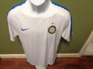 timeless design 32aad a4031 Details about Nike INTER MILAN ITALIA SOCCER Jersey White SIZE MENS SMALL