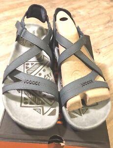 482154b05b45 Merrell Women s Sandspur Rose Leather Sandals Slate Pink Size 9 NIB ...