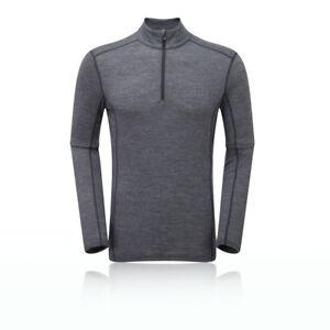 Montane Mens Sports Outdoors Primino 140 Zip Neck Long Sleeve Top ... 414db849ed