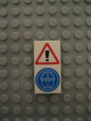 Lego Health and Safety Construction Site 4 x 2 Tile