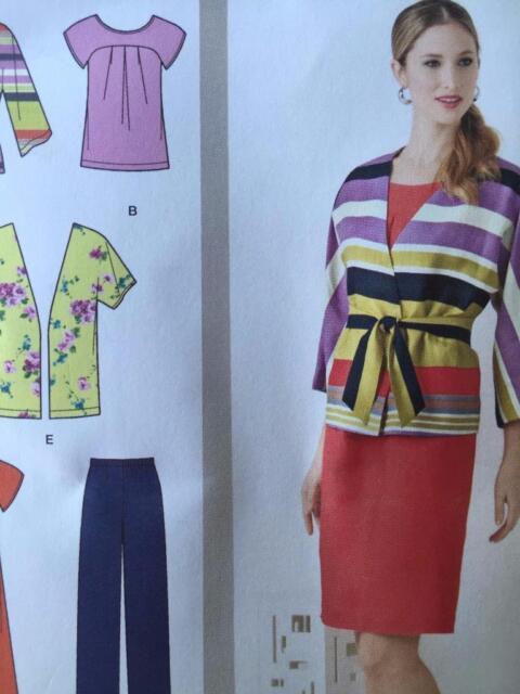 Simplicity Sewing Pattern 1620 Misses Dress Tunic Pants Jacket Size 20w-28w UC