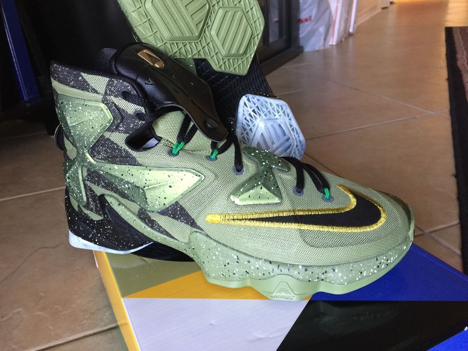 Nike AIR LEBRON XII All Star Game ASG 13 10.5 10 9.5 8 What The GOLD 11 Black 12
