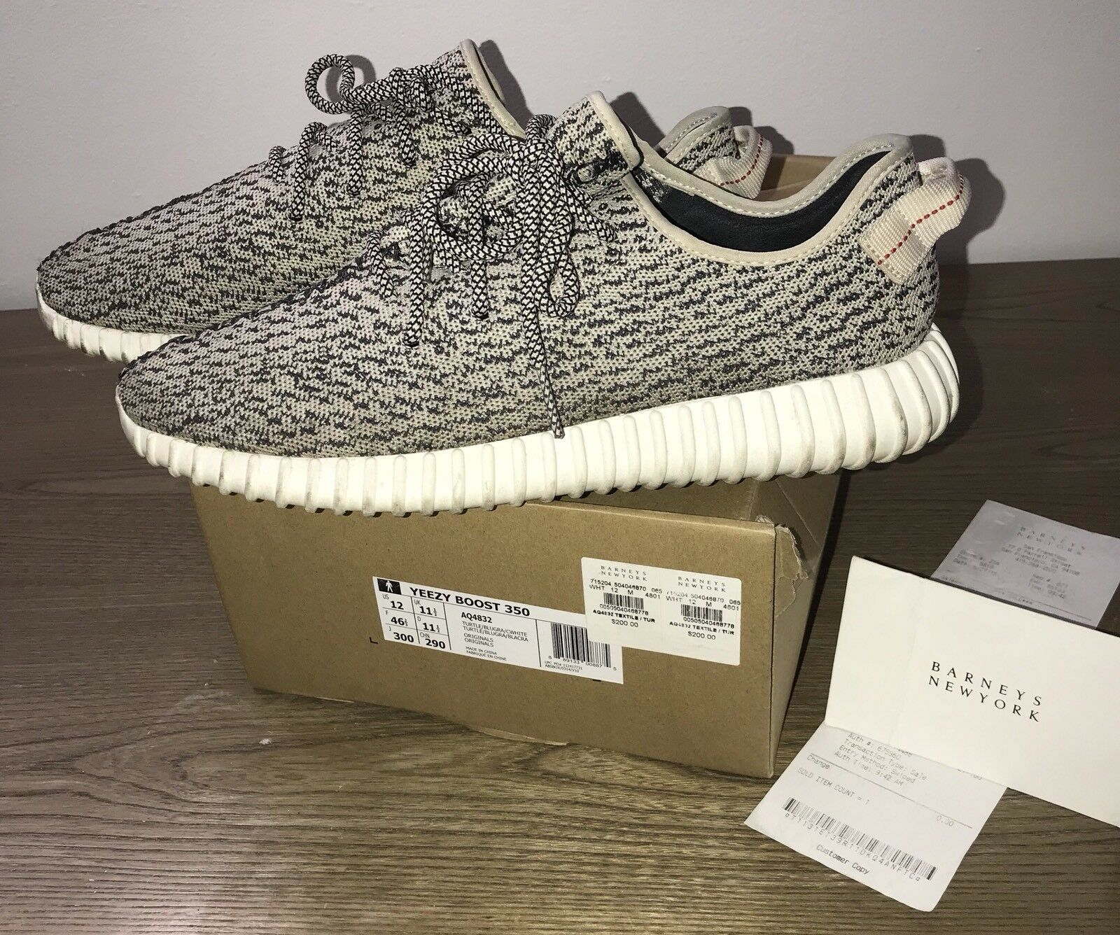 Yeezy Turtle Dove Mens 12 100% Authentic Bought From Barney's Still Have Rec