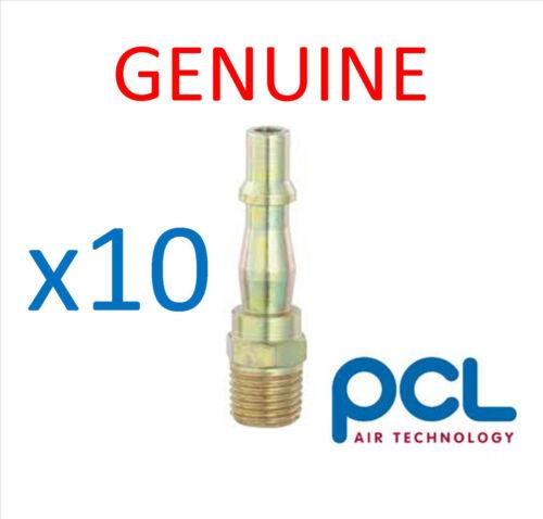 "10 x Genuine PCL 1//4/"" BSP Male Adaptor Air Line Fittings"