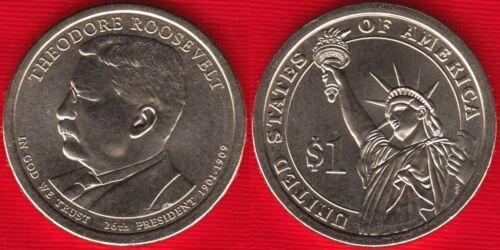 "USA 1 dollar 2013 P mint /""Theodore Roosevelt/"" UNC"