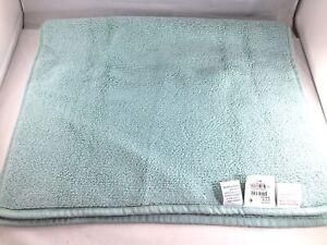 "Hudson Park Luxe Collection Bath Mat Rug 32"" X 20"" 100/% Turkish Cotton Blue"