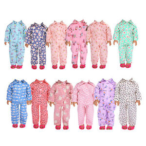 Cute Pajamas PJS Nightgown Clothes for 18 inch Our Generation American Doll Girl