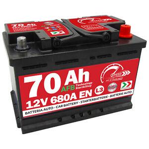 Autobatterie Speed 12V 70Ah 680A Start Stop EFB Starterbatterie AFB