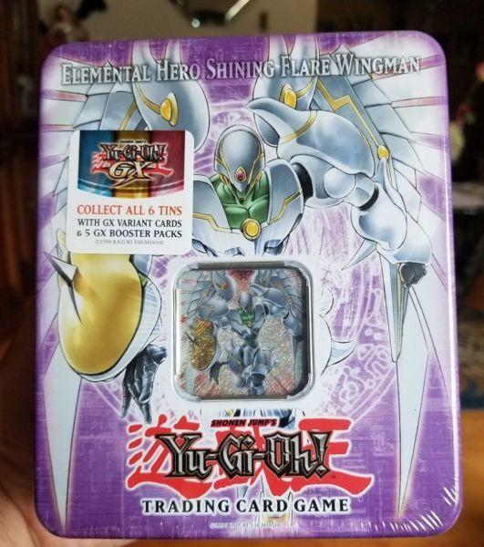 Yugioh Cards - Elemental Hero Shining Flare Wingman Tin