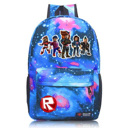 Roblox Backpack Kids School Bag Students Boys Bookbag Handbags Travelbag Game US