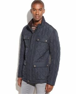 Vince Camuto Men Quilted Field Coat Jacket Navy Size M