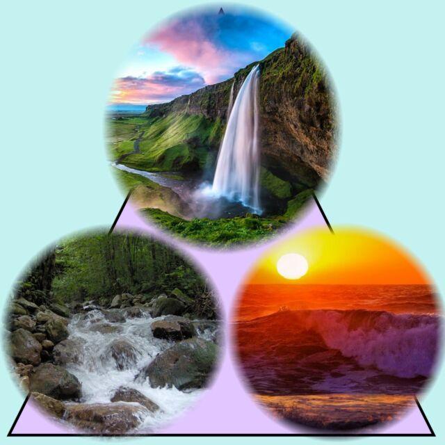 Nature Sounds Waterfall, Ocean at Sunset, Running Creek EMF Block Relaxation 3CD