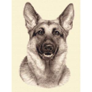 Full Counted cross stitch kit *Jann Designs Long Coat CHIHUAHUA dog puppy