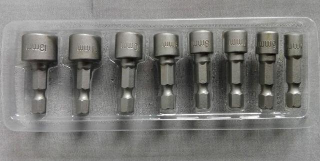 Steckschlüssel Bit Satz 8tlg für Akkuschrauber Bohrmaschinen Stecknuss Nuss Bits