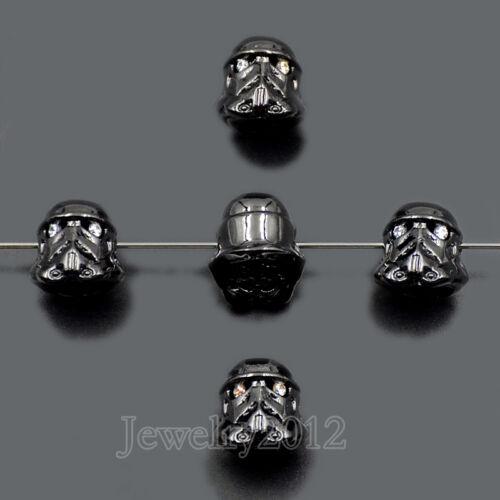 Star Warrior Zircone Cubique Micro Pave Gemstone Bracelet Connector Charm Beads
