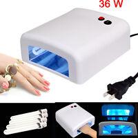 36w Uv Nail Polish Dryer Lamp Gel Polish Curing Light Dryer + 4pcs Tube Lamps Us