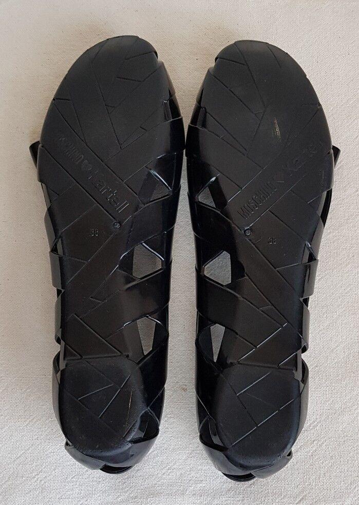 MOSCHINO LADIES BLACK JELLY BALLERINA Schuhe SIZE 38 UK5