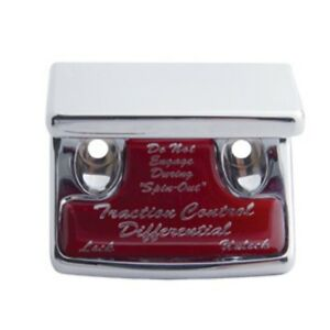 Details about Switch guard traction control red glossy sticker for  Freightliner Kenworth IHC