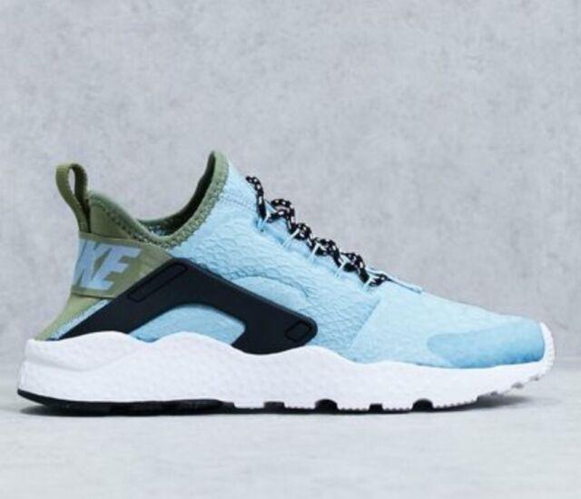 1c23ae0676885 WMNS Nike Air Huarache Run Ultra SE Blue Green Women Running Shoes ...