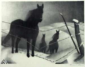 February-horses-Grant-Wood-Circa-1940-Archival-Quality-Art-Print