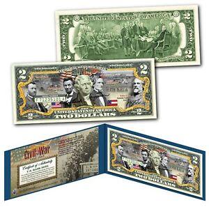 American-CIVIL-WAR-Confederate-and-Union-Generals-Commanders-Genuine-2-Bill