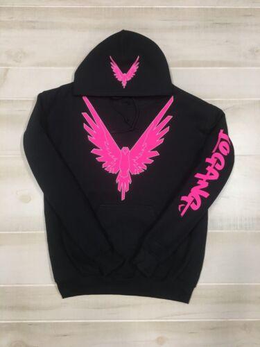 Logang Logan Paul Maverick Hoodie Neon Pink Bird Print