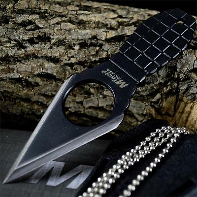GRENADE FINGER COMBAT TACTICAL Neck Boot FIXED BLADE KNIFE Military + SHEATH