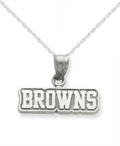 Sterling Silver Cleveland Browns Logo Charme Collier Avec Chaîne-Coffret Cadeau