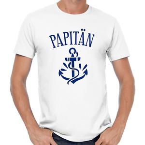 Papitaen-Papa-Vater-Anker-Kapitan-Captain-Vatertagsgeschenk-Lustig-Comedy-T-Shirt
