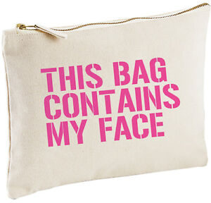 Image Is Loading This Bag Contains Make Up Funny Birthday