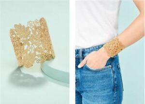 Stella-amp-Dot-Chantilly-Lace-Cuff-Black-Bracelets-For-Women-GOLD