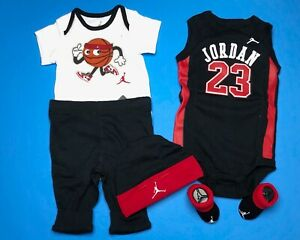 0-6 Months Pants /& Booties Air Jordan Newborn  BABY 5-pc GIFT SET Bodysuit