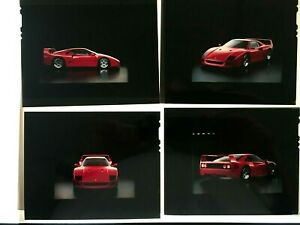 Vintage Ferrari 1987 F40 Factory 4-color Transparencies. Rare Find.