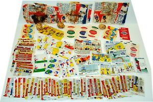 Vintage-Bubblegum-Collection-of-Assorted-Wax-Paper-Wrappers-Comics-Rare-amp-Scarce