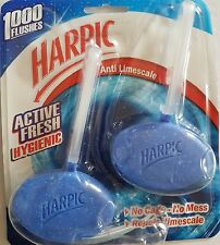 Harpic Anti Limescale Toilet Block Hanger Active Fresh Hygienic Cleaner Clean