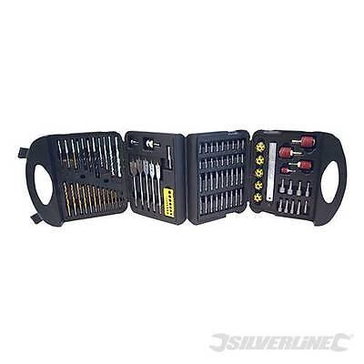 OFFER Silverline SDS Plus Masonry Drill /& Steel Set 12pce In sturdy case
