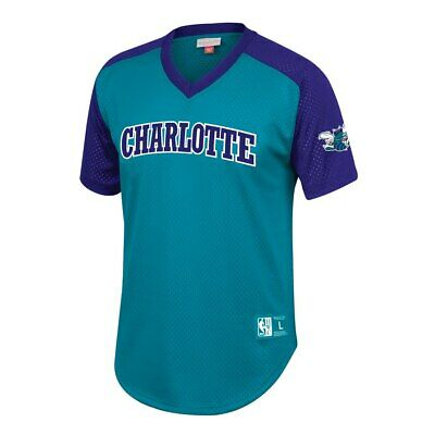 new styles 597a2 f2729 Teal / Purple Charlotte Hornets Mitchell & Ness Mesh NBA Jersey | eBay