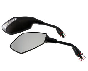Mirror-Universal-Ravenna-with-LED-Indicator-Black-Pair-Bike-Scooter-Quad
