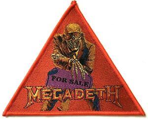 Megadeth-per-Vendita-Triangolare-Tessuta-Toppa-Thrash-Metal-Aufnaher-Ecusson